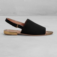 Slingback sandals | Black | & Other Stories