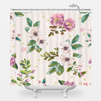 Floral Scent Shower Curtain