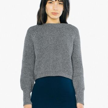Cropped Fisherman Pullover | American Apparel