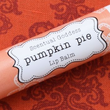 PUMPKIN PIE Lip Balm, Pumpkin Spice Flavored Natural Chapstick