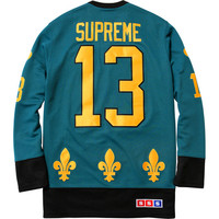 Supreme: Fleur de lis Hockey Top - Teal