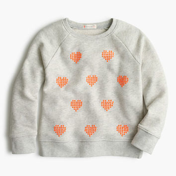 crewcuts Girls Cluster Heart Popover Sweater