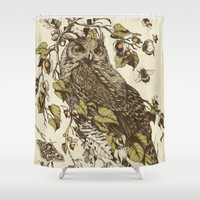 Great Horned Owl Shower Curtain by Teagan White | Society6