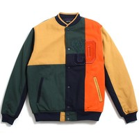 Arise Patch Varsity Jacket Multicolor