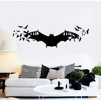 Vinyl Wall Decal Bats Art Halloween Horror Inspired Decoration Stickers Unique Gift (ig4898)