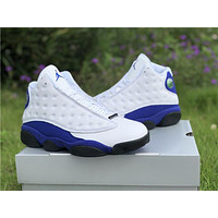 Nike Air Jordan 13 Retro AJ13 White/Royal Blue Sneaker Shoes US5.5-13