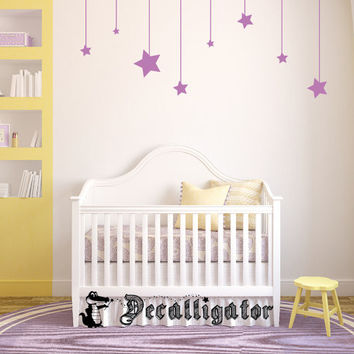 Wall Decal - Hanging Stars - Cute Vinyl Wall Art for Baby Nursery or Bedroom [007]