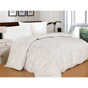 300 Thread Count Paisley White Alternative Down Comforter in Full/Queen Size