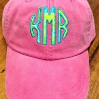 Lilly Pulitzer Monogrammed Hat by Throw A Tantrum