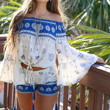 Clear Blue Skies Blouse