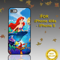 Beautiful Ariel The Little Mermaid Disney Princess - Photo on Hard Cover - For iPhone Case ( Select An Option )