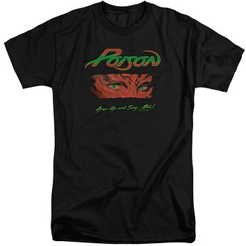 Poison Tall T-Shirt Open Up and Say Ahh Black Tee