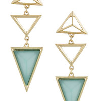 Triangle Droplet Earrings (Sage)