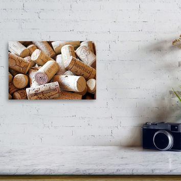 French Wine Corks Canvas Print