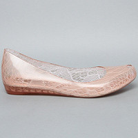 The Melissa Ultragirl Meia in Pink Lace by Melissa Shoes