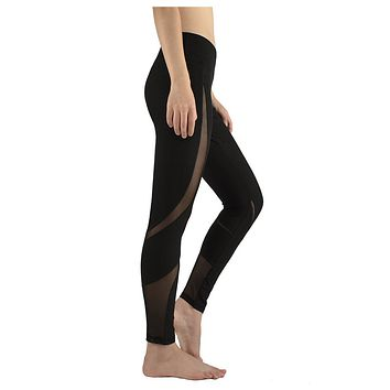 Women's New Style Fashion Leisure Pants Quick-Dry Ladies Tight High-Waist Fitness Pants