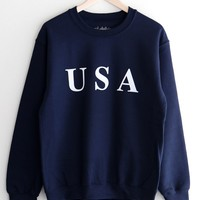 USA Oversized Sweatshirt - Navy