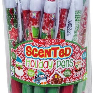 Scented Holiday Pen Case Pack 24