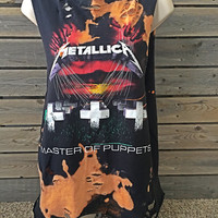 Metallica Bleached,size medium  distressed bleached band tee, heavy metal, rock n roll, concert tee, bleached tee, cropped shirt