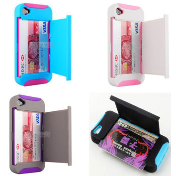 Stand Card location Case for Iphone 4/4s/5