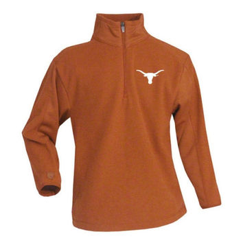Antigua Texas Longhorns Youth Quarter Zip Frost Jacket - Burnt Orange