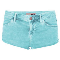 MOTO Acid Wash Blue Hotpants - New In This Week  - New In
