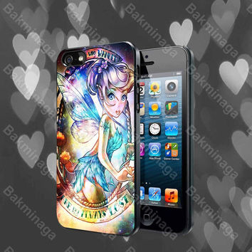 Disney Princess Tinker Bell Galaxy Nebula case for iPhone 4, 4S, 5, 5S, 5C and Samsung Galaxy s2, s3, s4