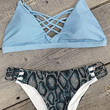 Lace Up Bikini Set