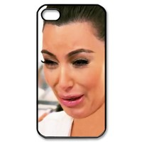 Kim kardashian ugly crying face 02 iphone 4 4s Black / White case
