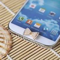 Waterwood Home Button Sticker - Bling Rhinestone for Samsung Galaxy S3 S4 S5 Note 2 Note 3