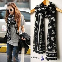 Silk Skull Scarf for Women