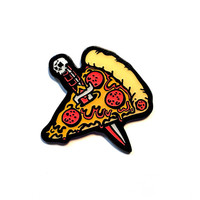 Pizza Knife Lapel Pin