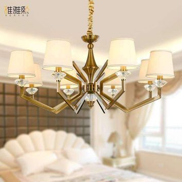 Art Deco European Candle Crystal LED Chandeliers Ceiling Bedroom Living Room Modern Decoration  Lighting Free Shipping
