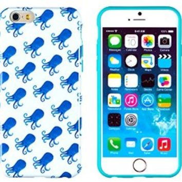 """iPhone 6 Case, DandyCase PERFECT PATTERN *No Chip/No Peel* Flexible Slim Case Cover for Apple iPhone 6 (4.7"""" screen) - LIFETIME WARRANTY [Blue Octopus]"""