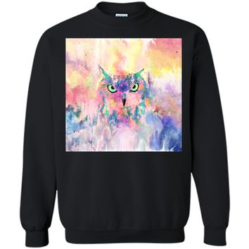 Adorable Watercolor Eagle Owl Abstract Paint 2017 T Shirt