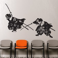 Japanese Samurai Fighter Wall Decal. #309