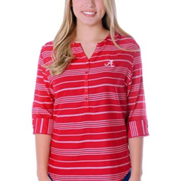 Alabama Crimson Tide Stripe Tunic Top | BAMA School Spirit Tunic Top | Alabama Crimson Tide Tunic Top