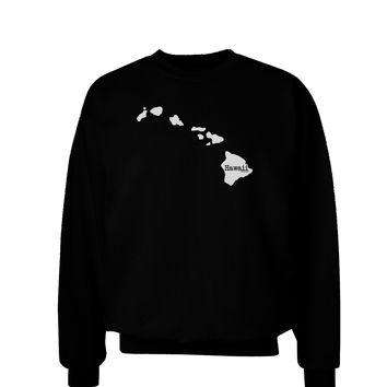 Hawaii - United States Shape Adult Dark Sweatshirt by TooLoud