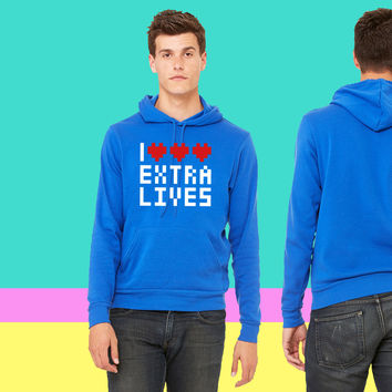 I love heart Extra Lives sweatshirt hoodie