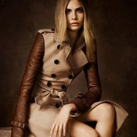Alligator Sleeve Trench Coat by Burberry
