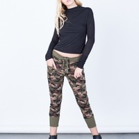 Lace-Up Camo Joggers
