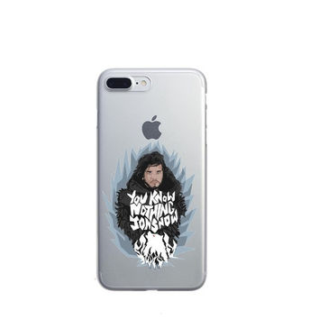 Game Of Thrones You Know Nothing Jon Snow Phone Case For iPhone 7 7Plus 6 6s Plus 5 5s SE