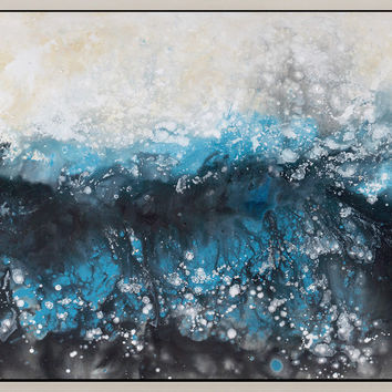 Deluge Wall Décor W/Frame Acrylic Painting Canvas