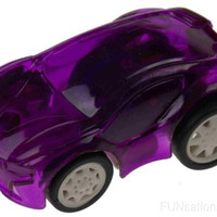 Small Purple Plastic Pull Back Cars Lot 8 Cake Toppers Party Gift Bag Favors NEW