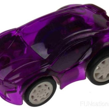 Lot 8 Small Purple Plastic Pull Back Cars Cake Toppers Party Gift Bag Favors NEW