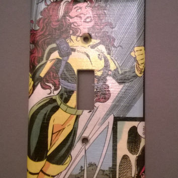 Rogue Comic Book superhero light switch cover