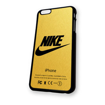 Nike logo gold texture iPhone 6 Plus case