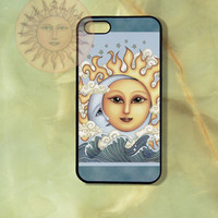 May Sun and Moon iPhone 5 case, iphone 4s, iphone 4 case, Samsung GS3 case, Ipod touch case-Silicone Rubber / Hard Plastic Case, Phone cover