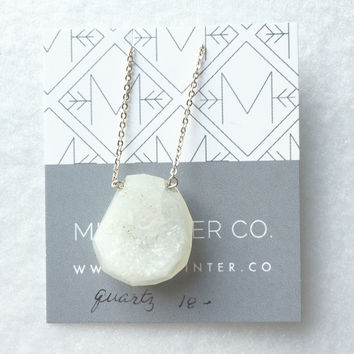 Creamy druzy Quartz faceted _ trunk show