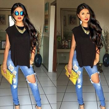 Jeans Fashion Jeans Woman  High Waisted Jeans